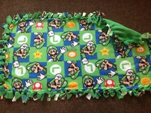 Luigi handmade fleece blanket London Ontario image 1