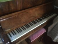 WH Barnes Piano with stool