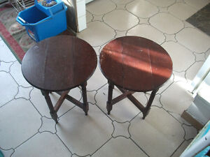 2 SMALL FOLDING TABLES