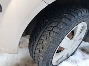 195/55r15 studded winter tires