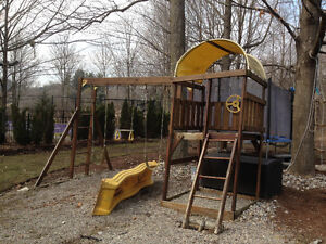 Swingset with a slid