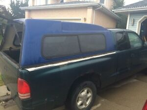 Truck canopy blue