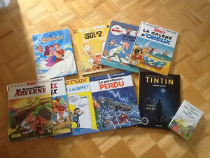 Livres bandes dessinées, de magie, et autres.
