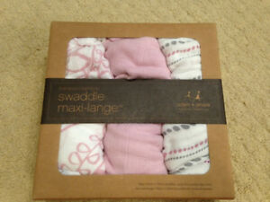 Aden and Anais Bamboo Swaddle 3 pack Blankets