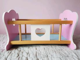 Wooden Baby Doll Crib