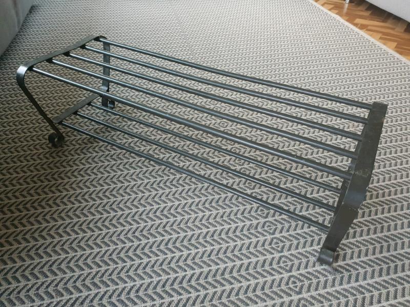 Black IKEA PORTIS Shoe Storage Made