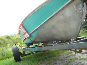 16 ft aluminum boat and trailer