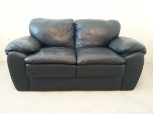 Palliser Leather Love Seat and Reclining Chair