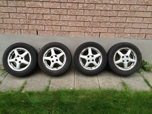 Selling rims and tires 195/60R14 Kitchener / Waterloo Kitchener Area image 1