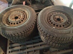 Four 195 75/14 winter tires