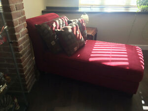 Hide a bed and chaise longue