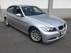 2007 57 BMW 318 ES TD 4 DOOR IN SILVER 6 SPEED ONLY 75000 MILES WITH F S H
