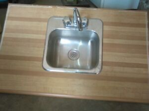 Bar sink with countertop