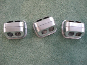 Lot of 3 Floor Monument Electrical Outlet Junction Box USED