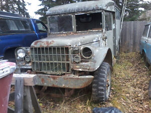 1954 M152 Military Dodge project and 1996 Dodge V10 4x4 donor Prince George British Columbia image 1
