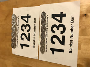 Silver Plated Blanket Number Bars