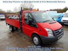 2011 FORD TRANSIT EX LWB, ALLOY DROPSIDE, PICK UP, EXTENDED FRAME, FSH, T/LIFT