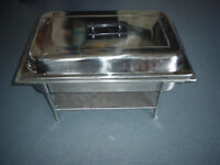 Staniless steel chafing dish 22'' x 14'' 6 pieces - stand, cover