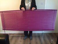 Colour match purple fizz blinds and brackets 180cm