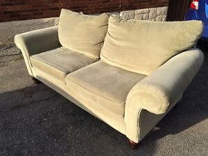 REDUCED Sage Green Sklar Peplar Couch