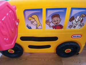 Little tikes kids school bus slide