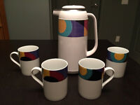 Vintage Mikasa Thermal Coffee Carafe and Mugs - $30 obo