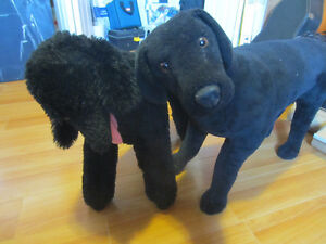 Black Lab and Poodle extra big plush toys.