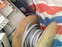 Job lot electrical Cables brackets plugs etc