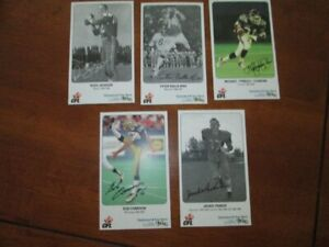 CFL FOOTBALL All Star with printed autograph 5 Card Lot