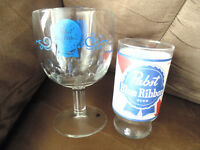 Pabst Blue Ribbon Beer Glasses