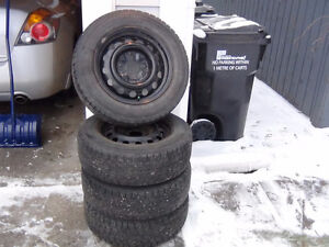 Winter Tires on Rims - Dunlop Graspic 205/60R15