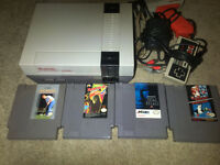 Nintendo (NES) with 4 games