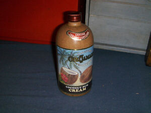 VINTAGE RUM BOTTLE-CERAMIC-OLD JAMAICA SANGSTER'S-EMPTY