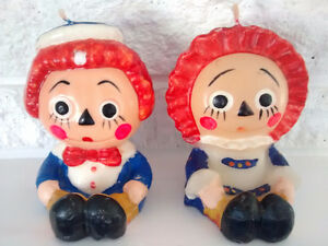Vintage Raggedy Ann & Andy Wax Candles -- $25