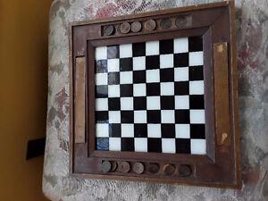 Antique checker board