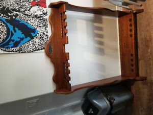 Wooden pool cue holder