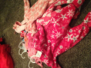 Girl dresses , outfits and sleepers size 3 month to one year
