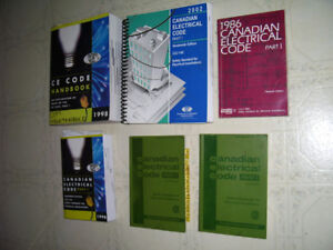 OLD Canadian Electrical Code Books