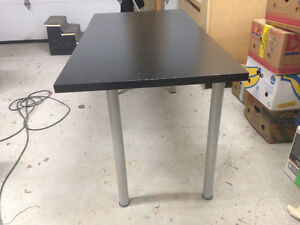 Black ikea collapsible table/desk $25