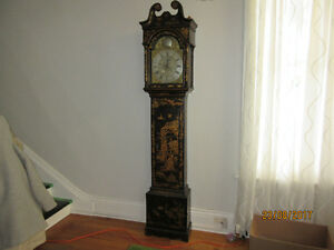 18th C CHINOSERIE LONGCASE CLOCK