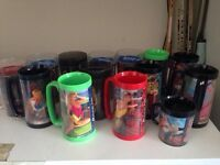 Set of 13 Snap On Thermos Mugs