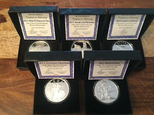 Limited Mintage Silver Shield .999 Proof Rounds incl COA/Box