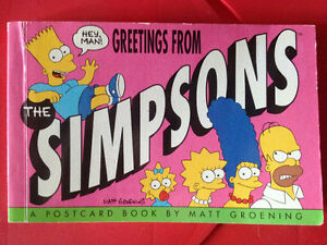THE SIMPSON'S Postcard book and season six DVD combo Peterborough Peterborough Area image 1