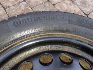 4 pneus d'hiver état neuf sur jante d'acier