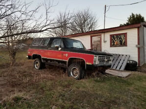 1985 K5 Blazer For Sale. As. Where is.