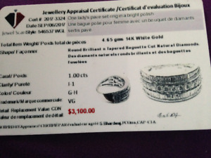 14K White Gold Diamond Ring - Great price