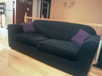 Free black couch.
