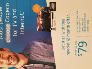 Cogeco High Speed Unlimited Internet, TV and Homephone promotion