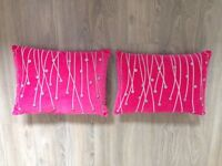 Pink & Silver Cushions
