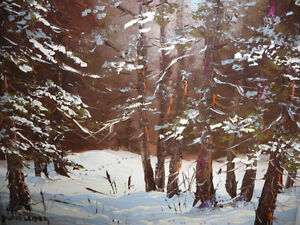 "Listed Artist,Heinz V. Pundleider ""Cross Country Trail"" Oil 1978 Stratford Kitchener Area image 3"
